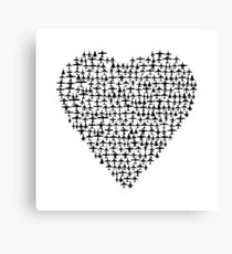 Heart - Airplane / Fighter Jets Canvas Print