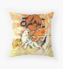 Okami Throw Pillow