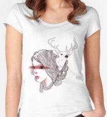 deer girl Women's Fitted Scoop T-Shirt