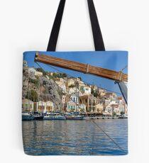 Gialos harbour view Tote Bag