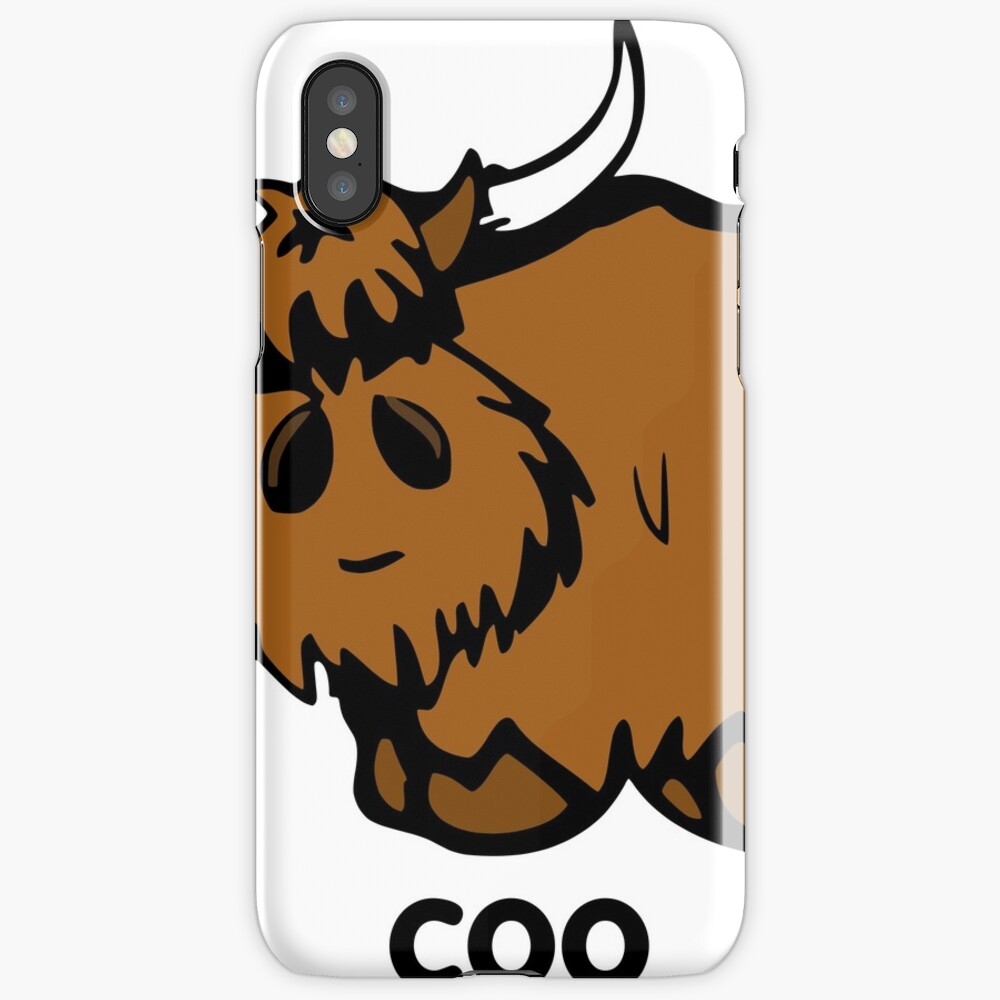 Heilan' Coo - with text iPhone Case & Cover