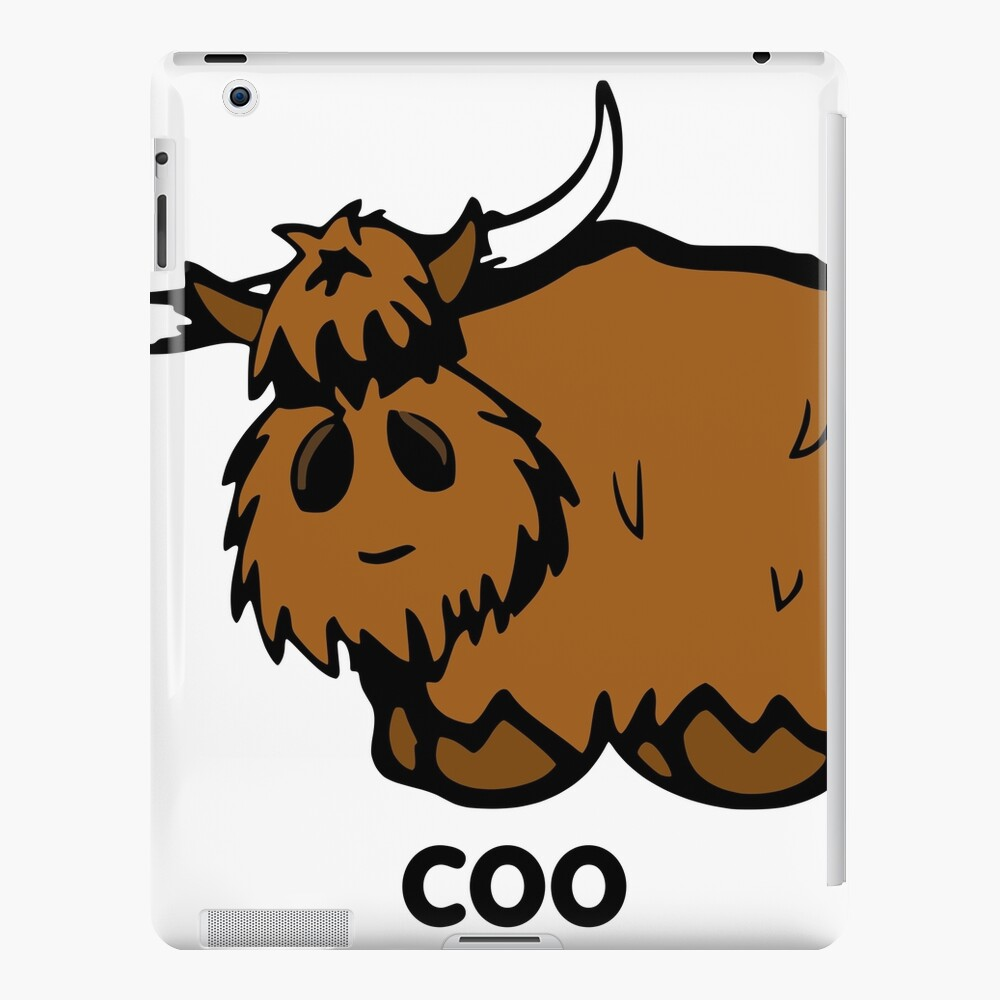 Heilan' Coo - with text iPad Case & Skin