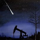 Meteorite over Buzzard Coulee by southshoreart