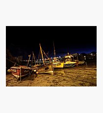 Broadstairs Harbour At Night Photographic Print