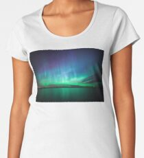 Beautiful northern lights Premium Scoop T-Shirt