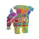 Yorkiepoo Love - A Bright and Colorful Watercolor Style Gift by traciwithani
