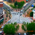 Tilt Shift Downtown Interesction by Charles Caldwell