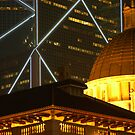 Bank of China and Colonial Building, Hong Kong by Stephen Tapply