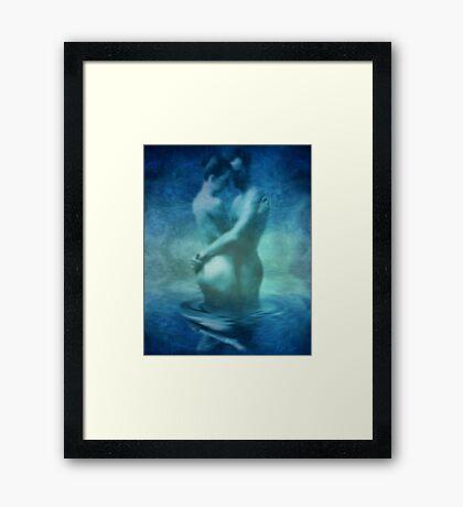 Embrace Blue Framed Print