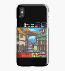 Town View - Cute Monsters RPG - Pixel Art iPhone Case/Skin