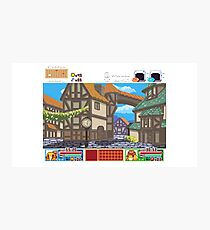 Town View - Cute Monsters RPG - Pixel Art Photographic Print