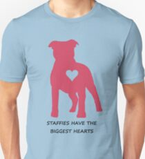 Staffies have the biggest hearts Unisex T-Shirt