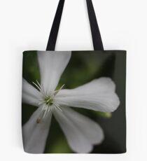 White Flower Macro Tote Bag