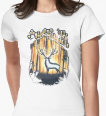 Deer God Master of the Forest Womens Fitted T-Shirt
