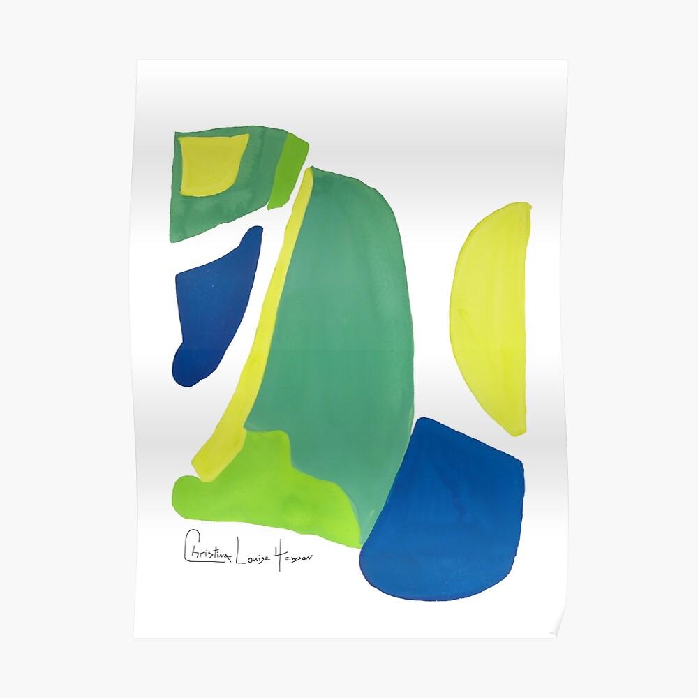 Peacock Abstract No.4 Poster