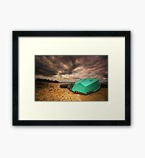Lone Boat  HDR - Avalon Beach, Geelong - Australia Framed Print