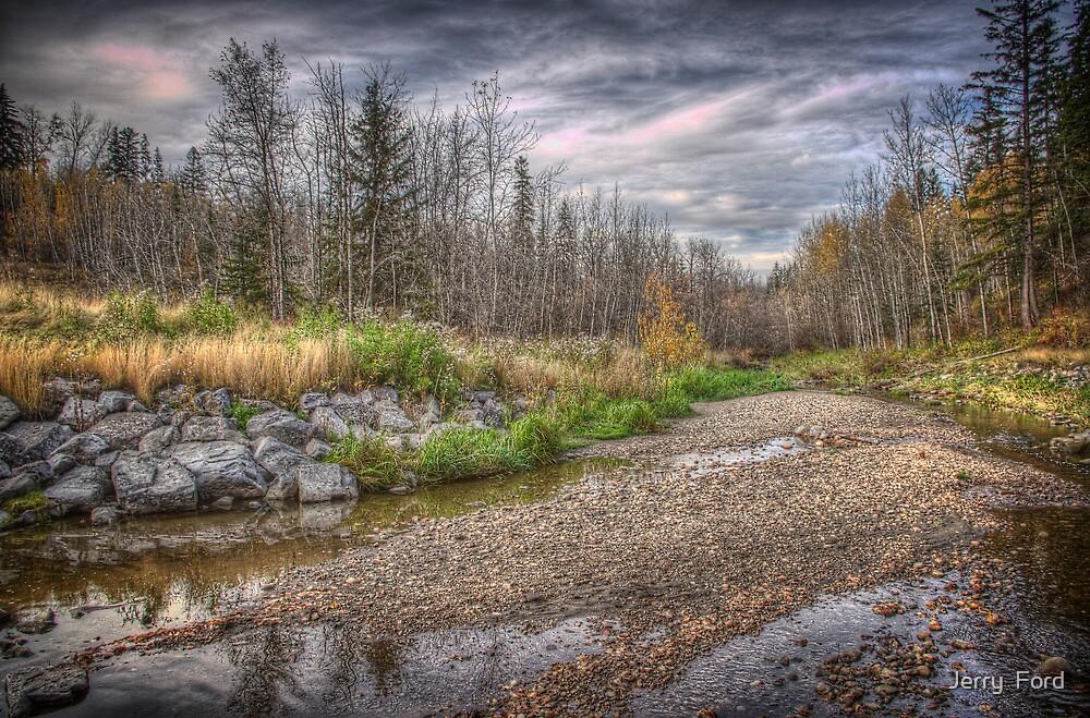Pebbles on Mill Creek Ravine by Myron Watamaniuk