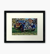 Red and Black Vintage Bentley Framed Print