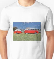 Volkswagen Microbus with matching Caravan T-Shirt
