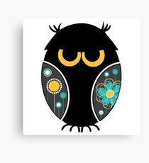 Whimsical Owl Floral Pattern Modern Vector Illustration Canvas Print