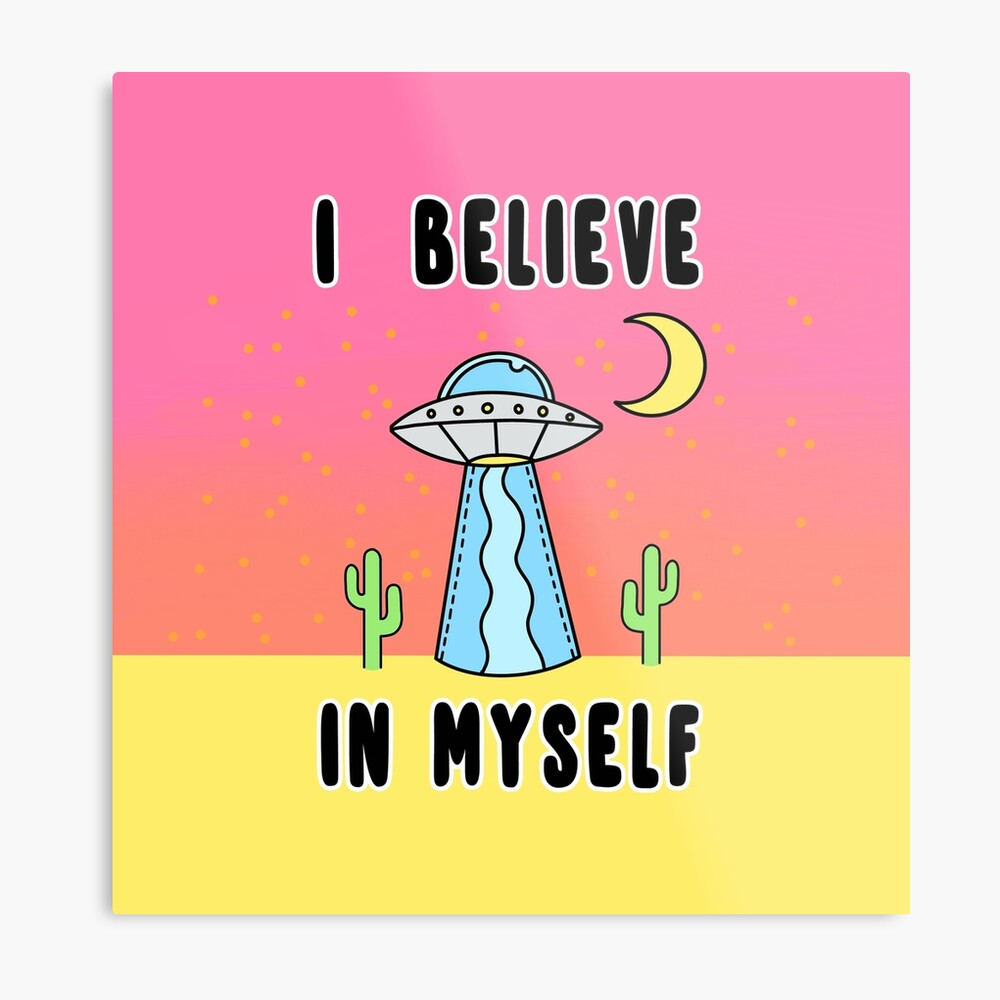 I Believe In Myself - The Peach Fuzz Metal Print