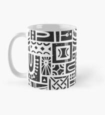 Arches Wood Block Pattern - (Black) Classic Mug