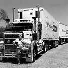 Triple Road Train with Truckie by JuliaKHarwood