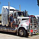 Truckie with his Kenworth T904 by JuliaKHarwood