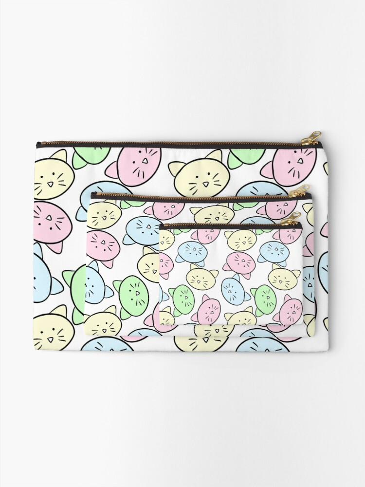 Alternate view of Pastel Cats Zipper Pouch