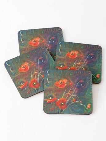 Poppies Coasters