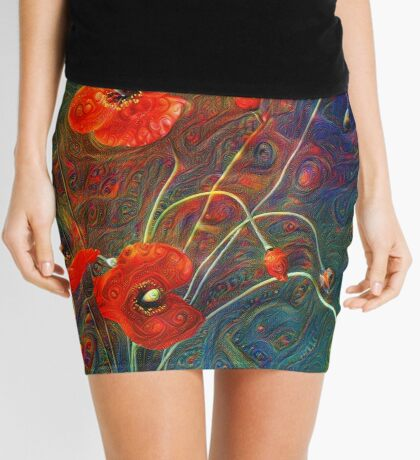 Poppies Mini Skirt