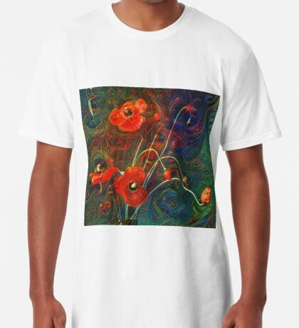 Poppies Long T-Shirt