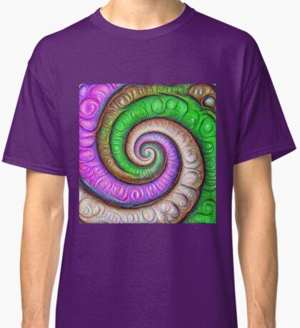 Fibonacci spiral #DeepDream #Art Classic T-Shirt