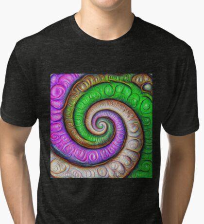 Fibonacci spiral #DeepDream #Art Tri-blend T-Shirt