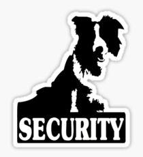 Border collie security geek funny nerd Sticker