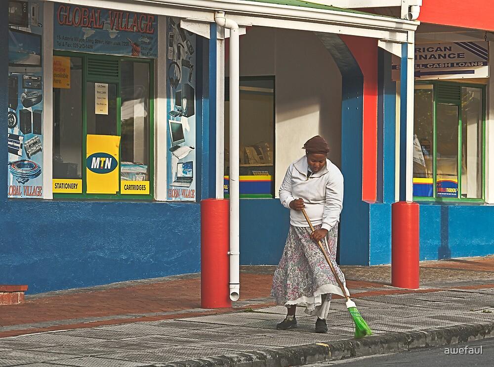Using a broom by awefaul