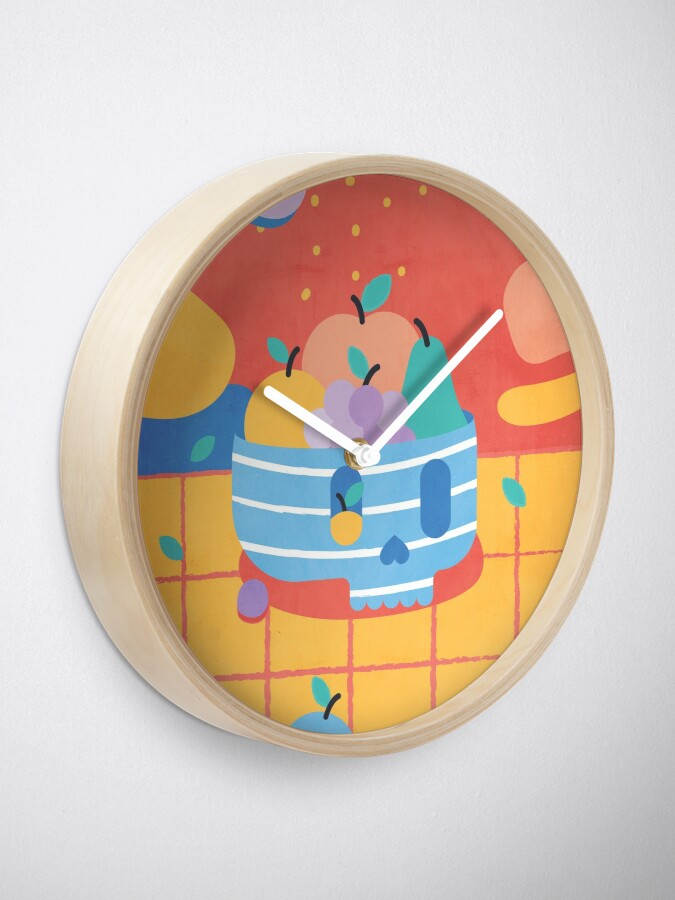 Alternate view of Skull Fruit Bowl Clock