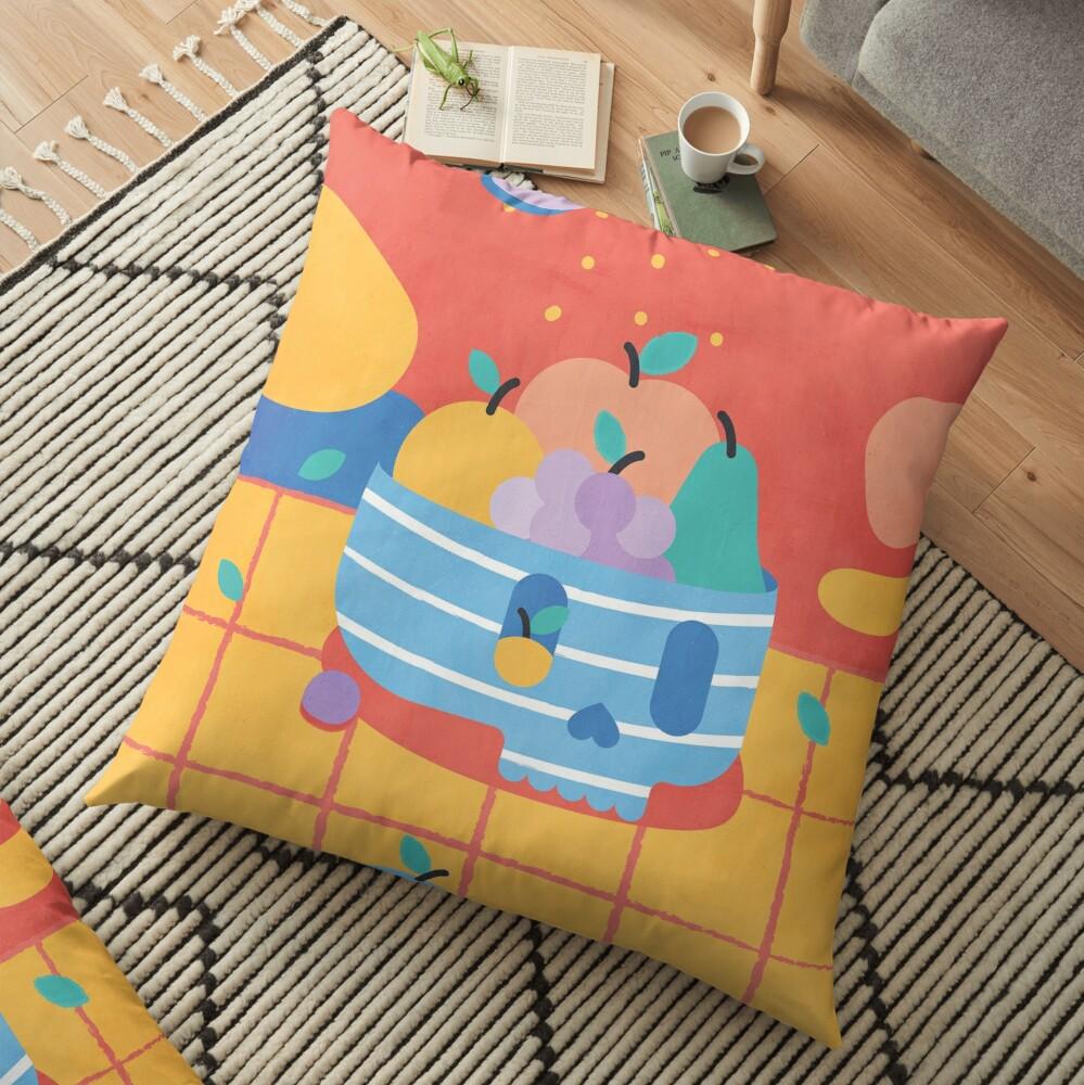 Skull Fruit Bowl Floor Pillow