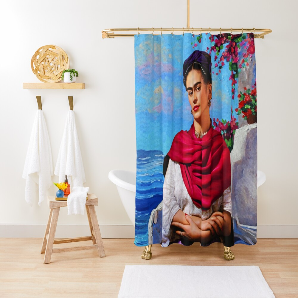Frida Kahlo and sea ⛔ HQ-quality Shower Curtain