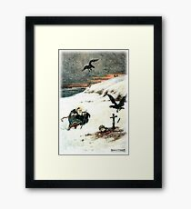 THEY PASSED OVER THE BOUNDLESS WHITE PLAIN WHERE AN AGED SAINT WITH FLOWING BEARD STOOD from the story THE STORY OF KASYAN AND THE DREAM MAIDEN Framed Print