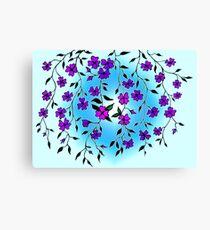 Purple Blooms  Canvas Print