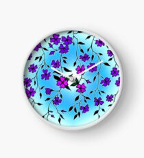 Purple Blooms  Clock