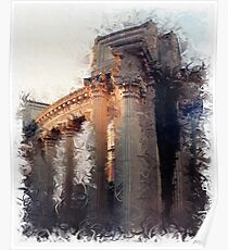 Palace of Fine Arts - Column Detail Poster