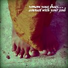 remove your shoes by Lauren Tober
