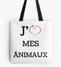 J'AIME MES ANIMAUX Tote Bag