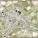 Uresia - Town Plan of Mirecourt, Rinden by S. John Ross