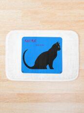 Kool Kat auf der Suche nach einer Katze von ACID ART PRINT blau Badematte