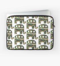 Camouflage Republican Elephant Laptop Sleeve