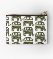Camouflage Republican Elephant Studio Pouch