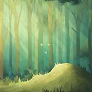 Mystical forest woodland by Lizziefij